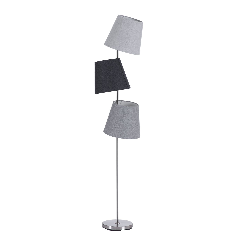 EEK A++, Lampadaire Leah - Tissu / Métal - 3 ampoules, Loistaa