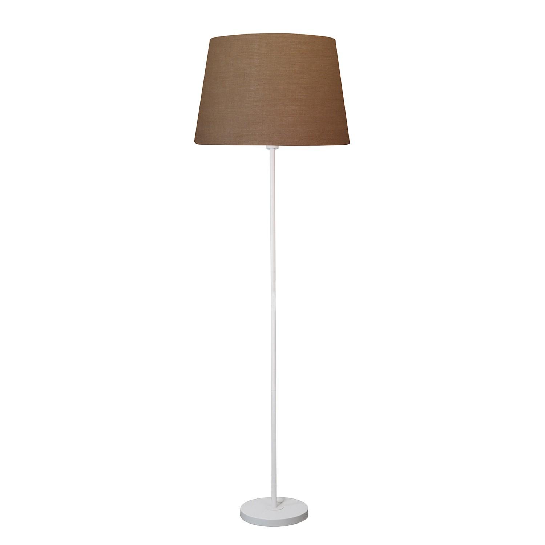 EEK A++, Stehleuchte Lena - Webstoff / Eisen - 1-flammig - Weiß  bei Home24 - Lampen