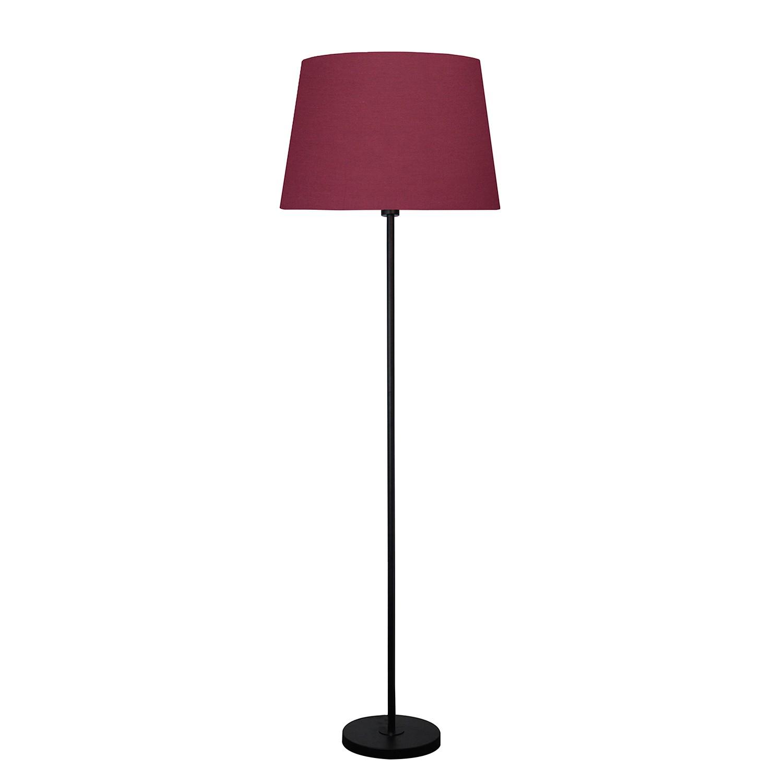 EEK A++, Lampadaire Lena - Tissu / Fer - 1 ampoule - Noir / Rouge bordeaux, hell&gut