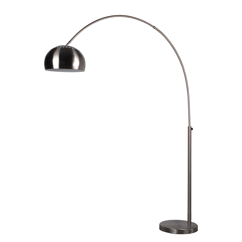 EEK A++, Lampadaire Metal Bow - 1 ampoule Argenté Métal, Zuiver