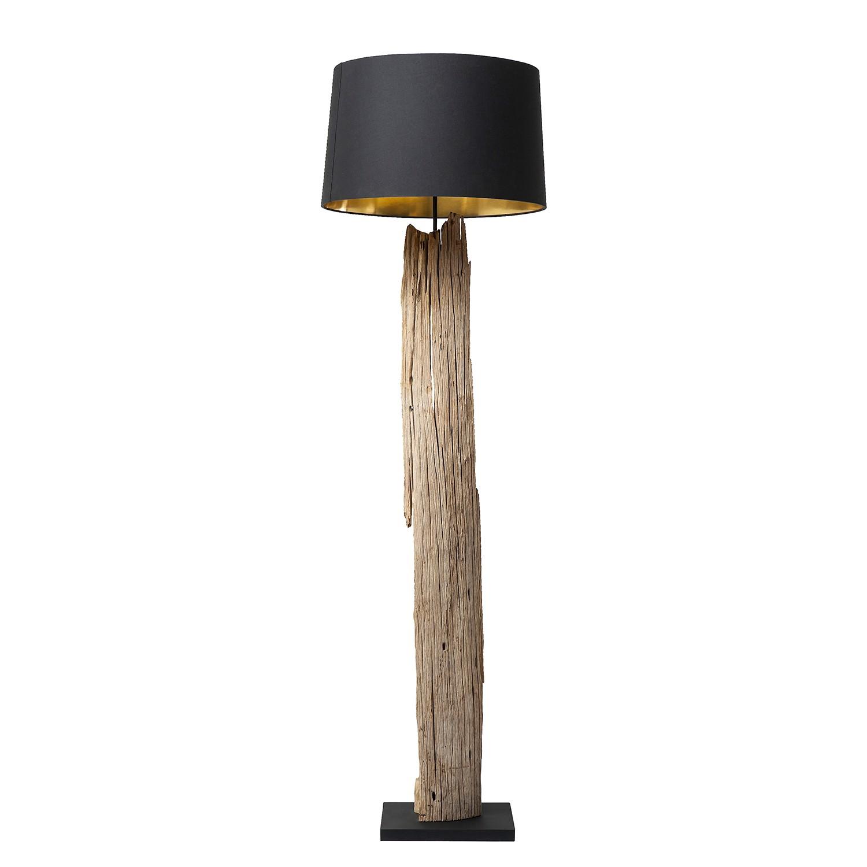 EEK A++, Lampadaire Nature Straight - Coton noir / Bois flottant, Kare Design
