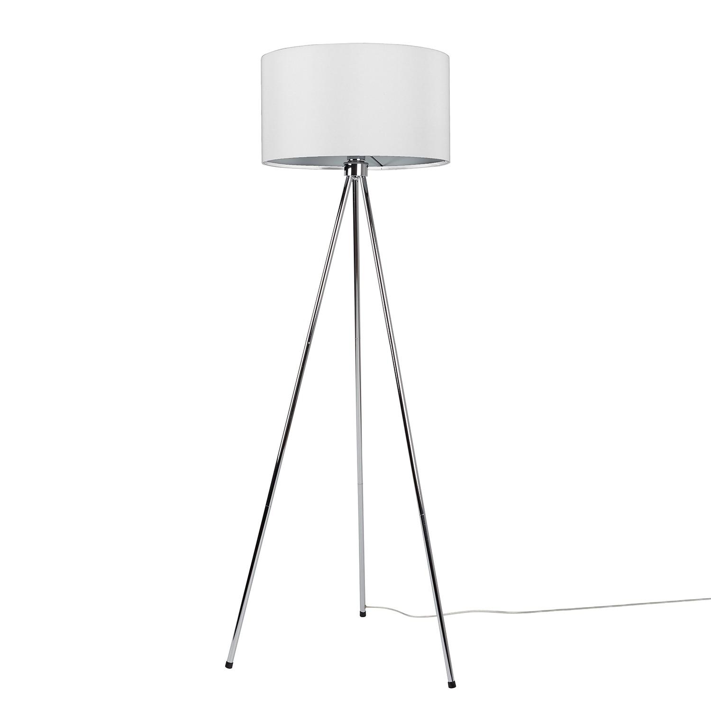 EEK A++, Lampadaire New Twist II - 1 ampoule Blanc Métal, home24