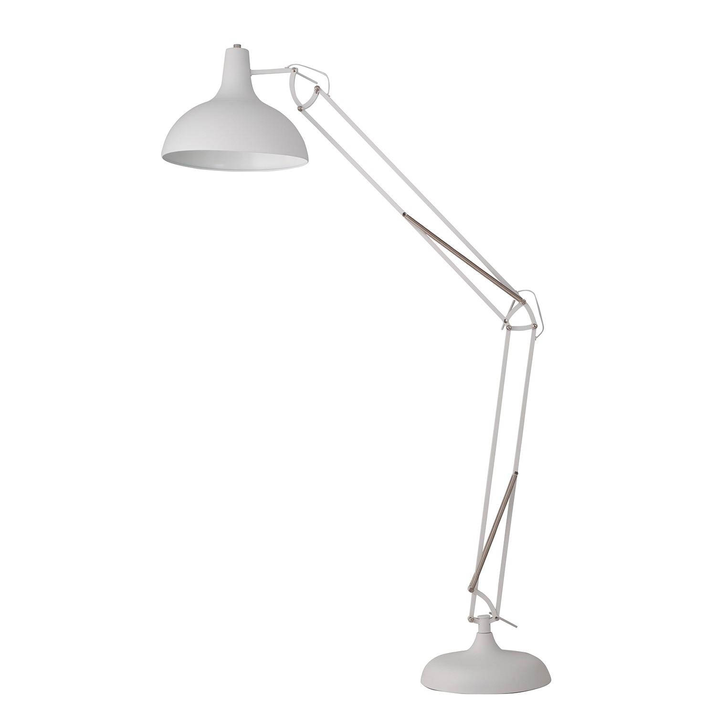 EEK A++, Lampadaire Office Floor - 1 ampoule Blanc Métal, home24