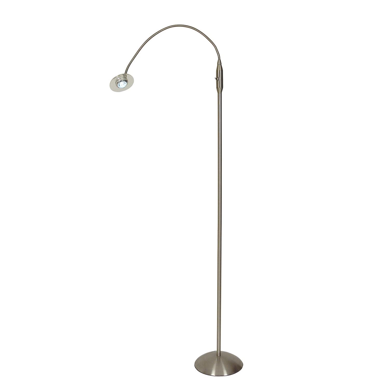 energie  A+, Staande lamp Optimum - metaal/kunststof zilverkleurig, Näve