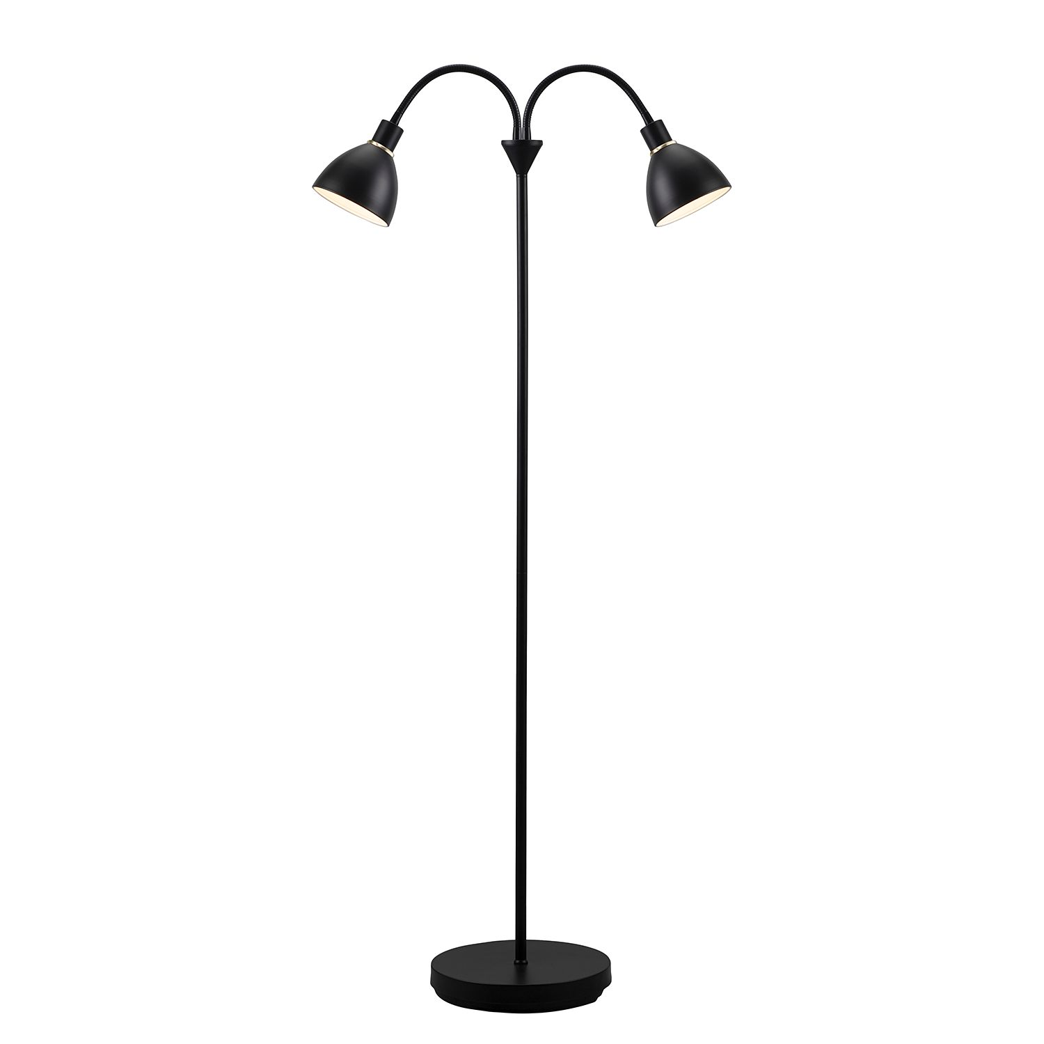 energie  A++, Staande lamp Ray IV - staal - 2 lichtbronnen, Nordlux