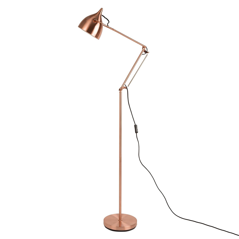 EEK A++, Lampadaire Reader - 1 ampoule Marron Métal, Zuiver