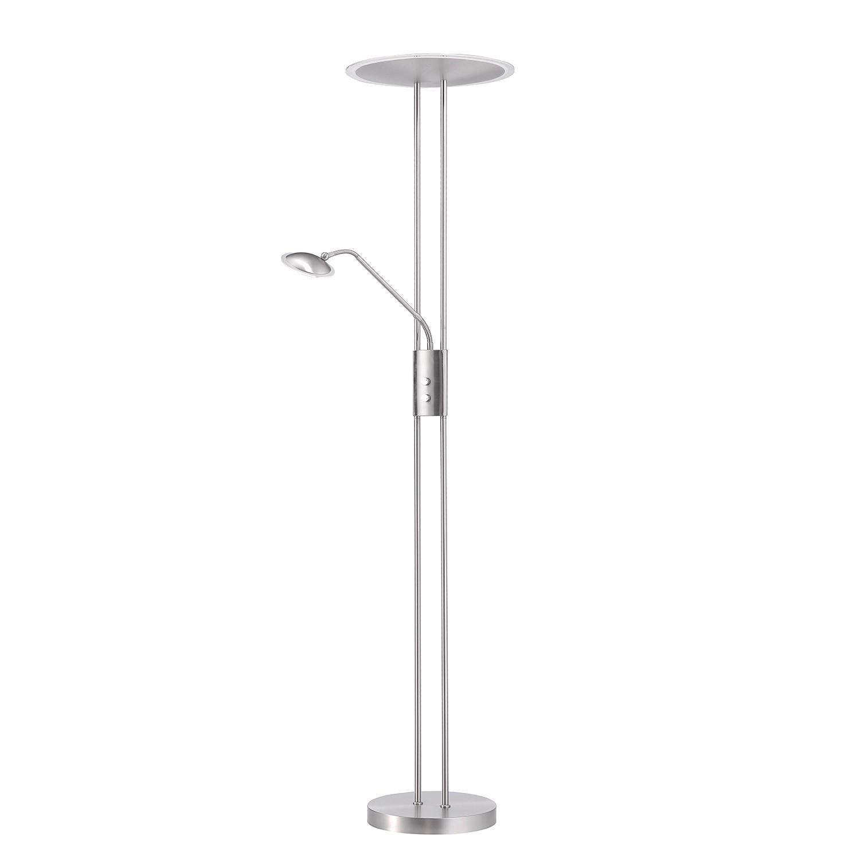 EEK A+, Lampadaire Rüdnitz - Nickel / Chrome Argenté 2 ampoules, FLI Leuchten