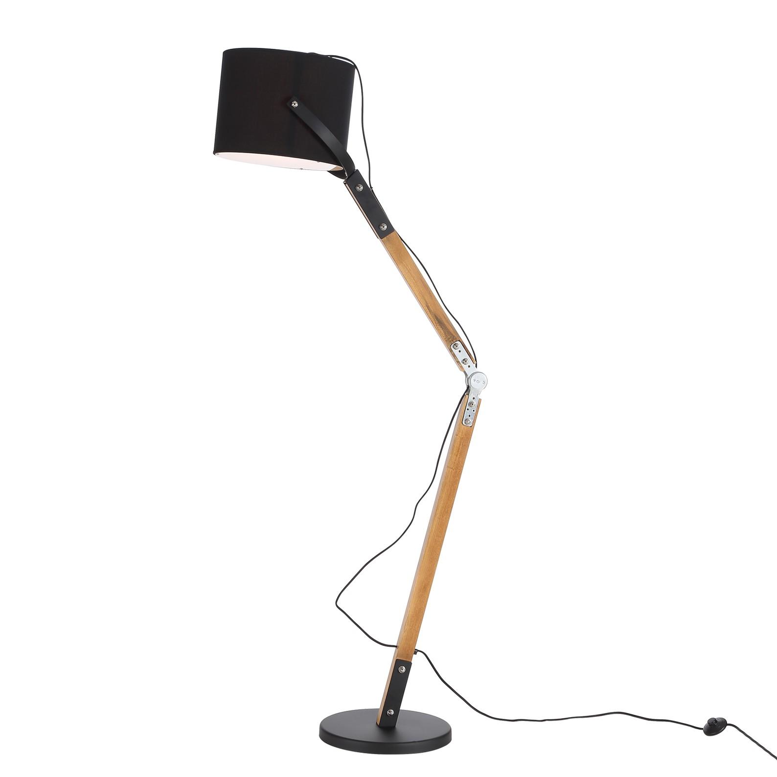 EEK A++, Lampadaire Snapshot - Noir 1 ampoule, Loistaa