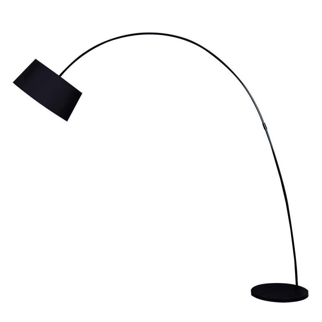 EEK A++, Lampadaire Solaris - Tissu / Métal - 1 ampoule - Noir, Loistaa