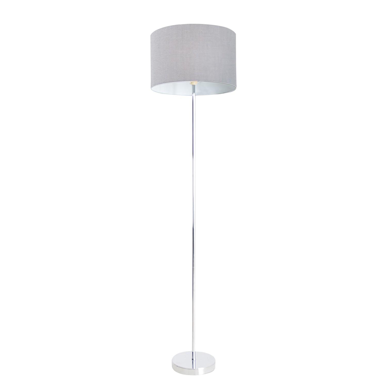 EEK A++, Lampadaire - Tissu / Métal Argenté 1 ampoule, Näve