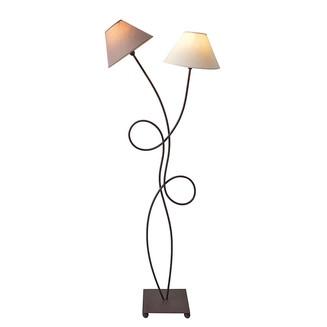 EEK A++, Lampadaire - Textile / Métal 2 ampoules, Näve