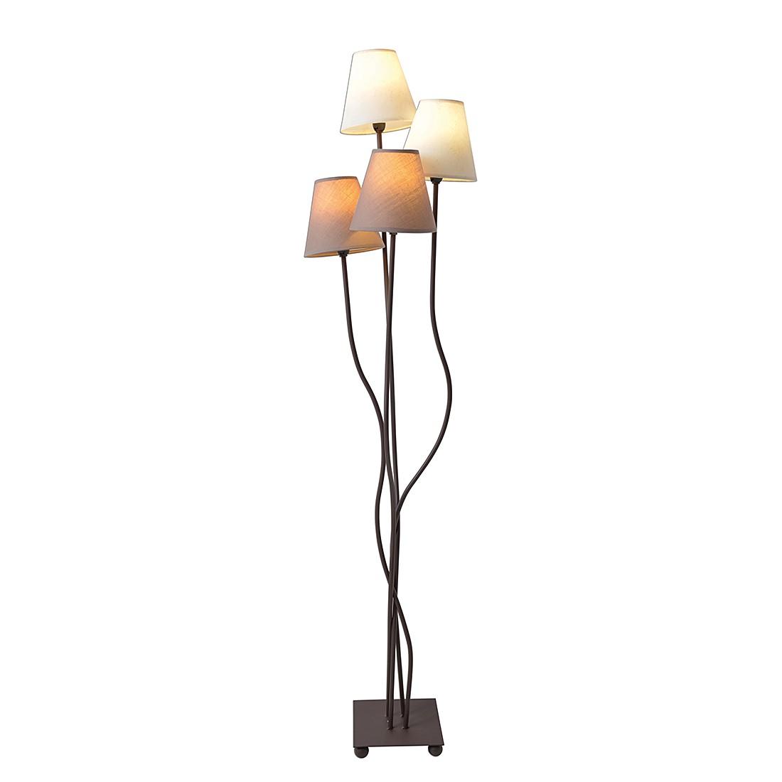 EEK A++, Lampadaire - Textile / Métal 4 ampoules, Näve