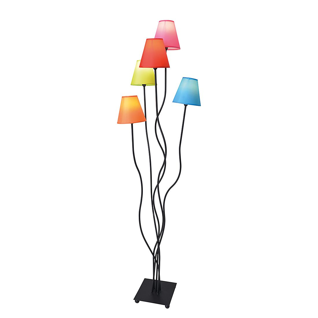 EEK A++, Lampadaire - Textile / Métal 5 ampoules, Näve