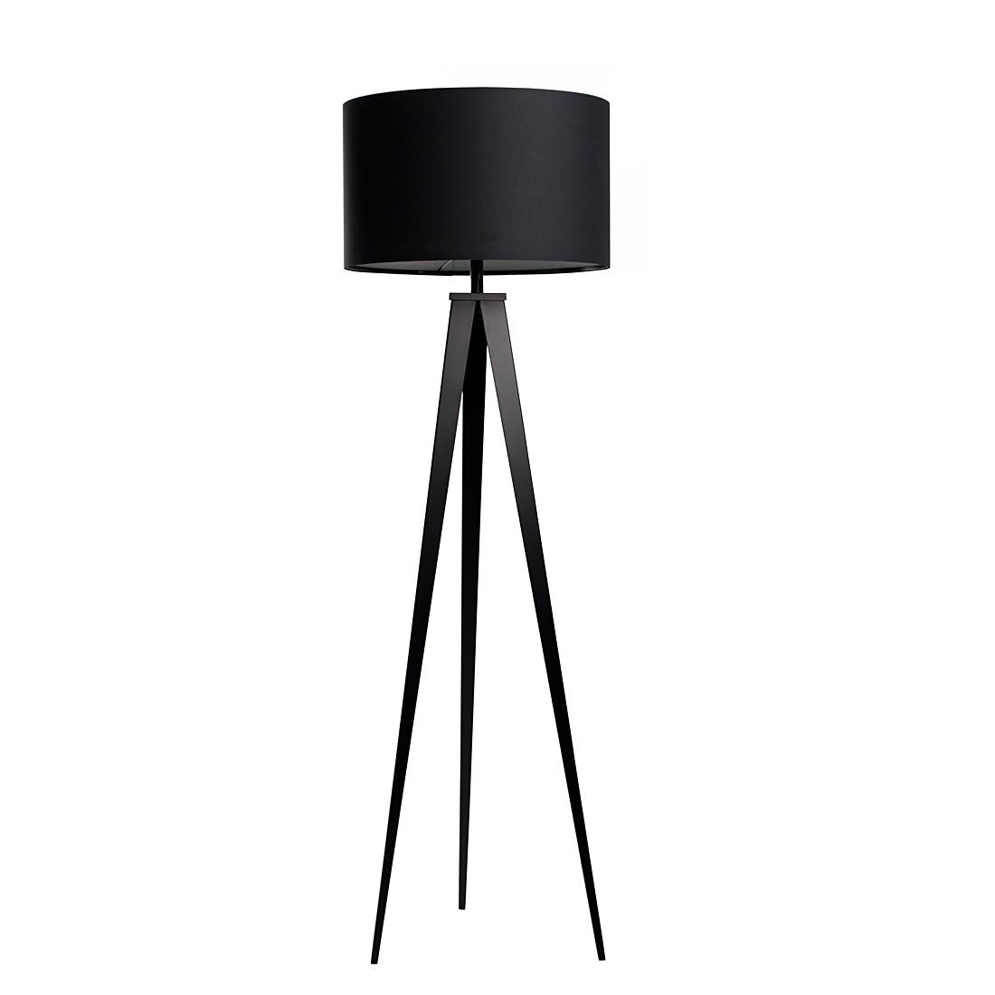 EEK A++, Lampadaire TRIPOD - Métal - 1 ampoule - Noir, Zuiver