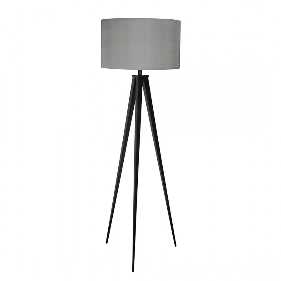 energie  A++, Staande lamp TRIPOD - metaal 1 lichtbron - Grijs/zwart, Zuiver