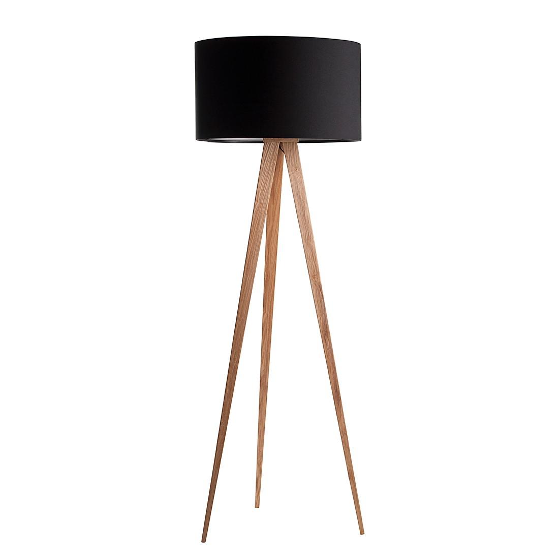 EEK A++, Lampadaire TRIPOD - Bois - 1 ampoule - Noir, Zuiver