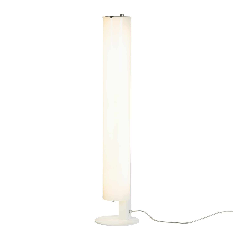 EEK A+, Lampadaire Tub-O - Verre / Métal Blanc 2 ampoules, Lampadina
