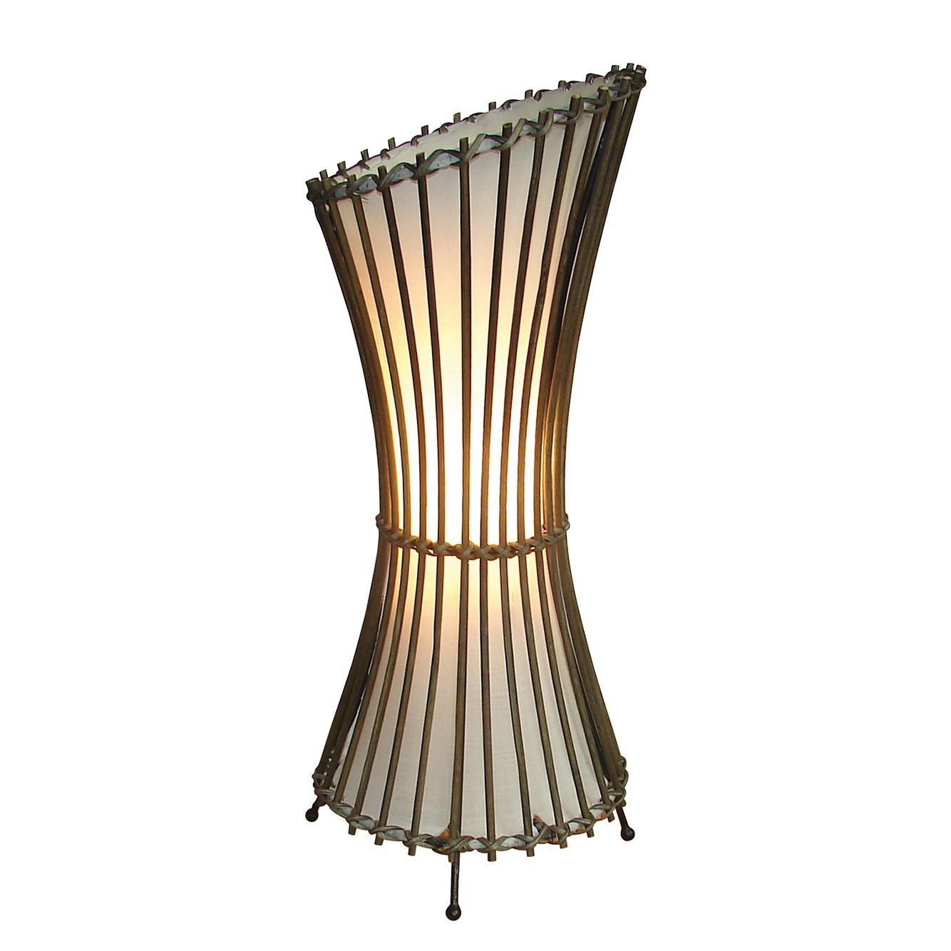 energie  A++, Staande lamp Weave - stof bruin 1 lichtbron, Näve