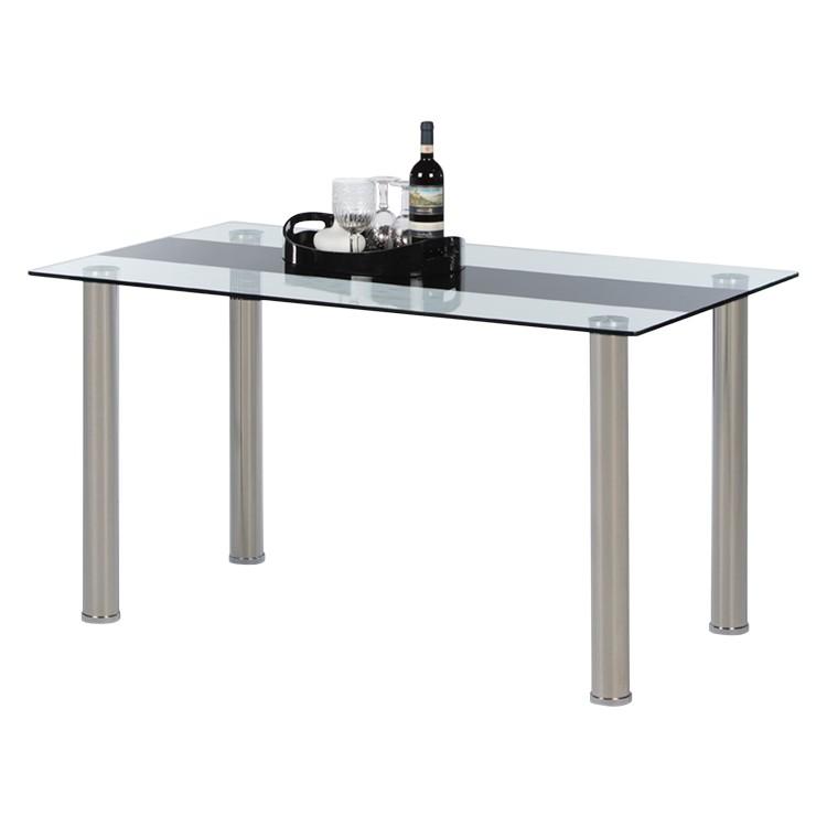 Table à manger Zemano - Verre / Métal, mooved