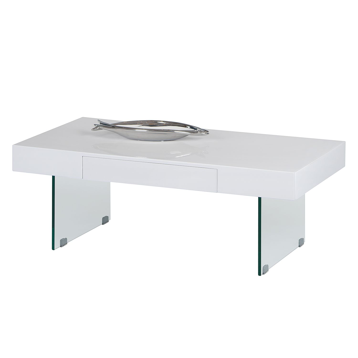 Table basse Dalema - Blanc brillant, mooved