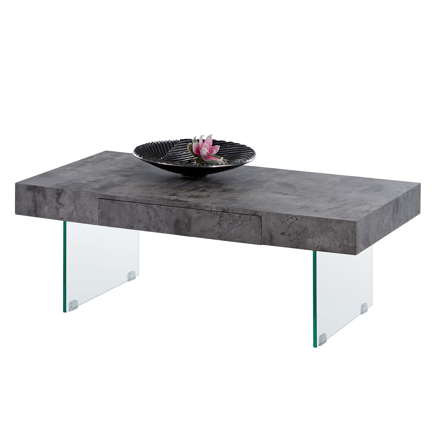 Table basse Dalema - Imitation ardoire, mooved