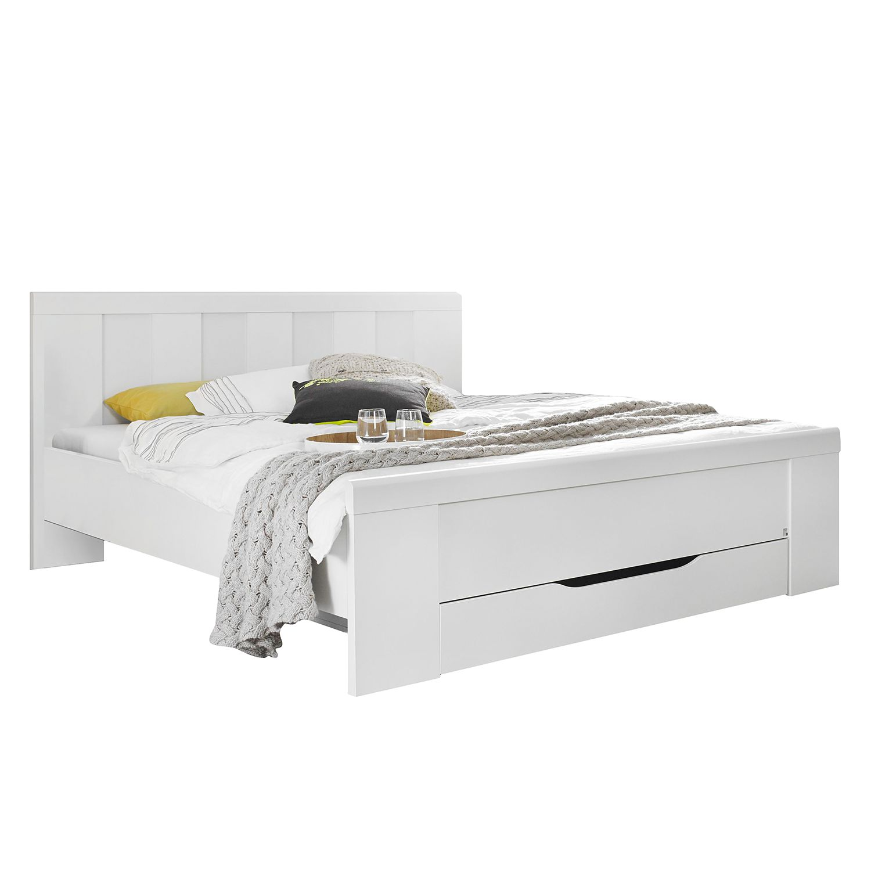 Lit à montants Agnetha - Blanc alpin - 160 x 200cm - Pas de coffre à literie, Rauch Select