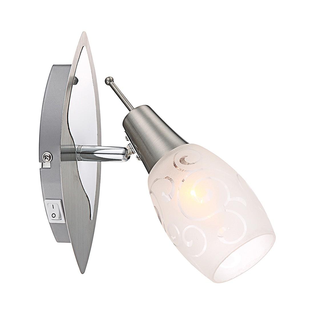 EEK A++, Strahler Florita - Metall - Silber - 1-flammig, Globo Lighting