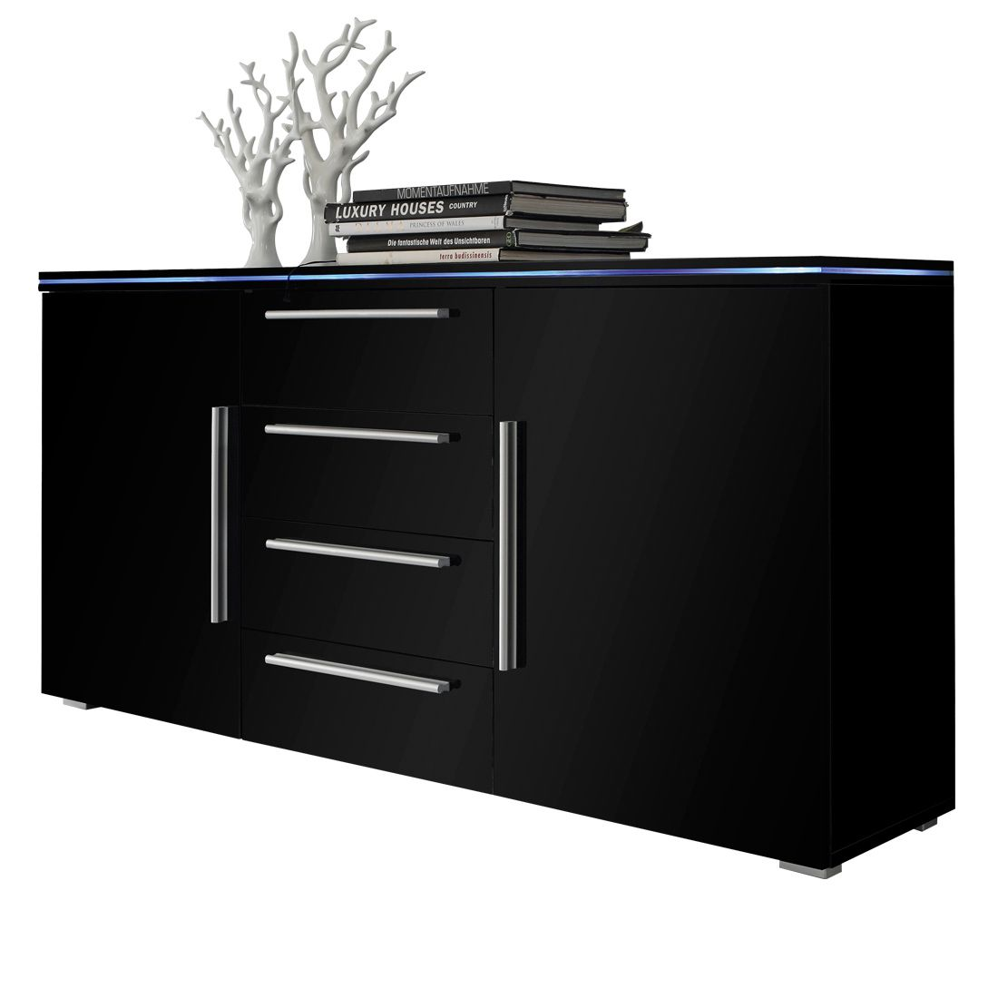 schwarz hochglanz vitrine preisvergleich die besten angebote online kaufen. Black Bedroom Furniture Sets. Home Design Ideas