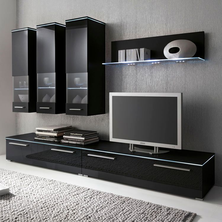 41 sparen wohnwand stripe ii 6 teilig nur 699 99 cherry m bel home24. Black Bedroom Furniture Sets. Home Design Ideas