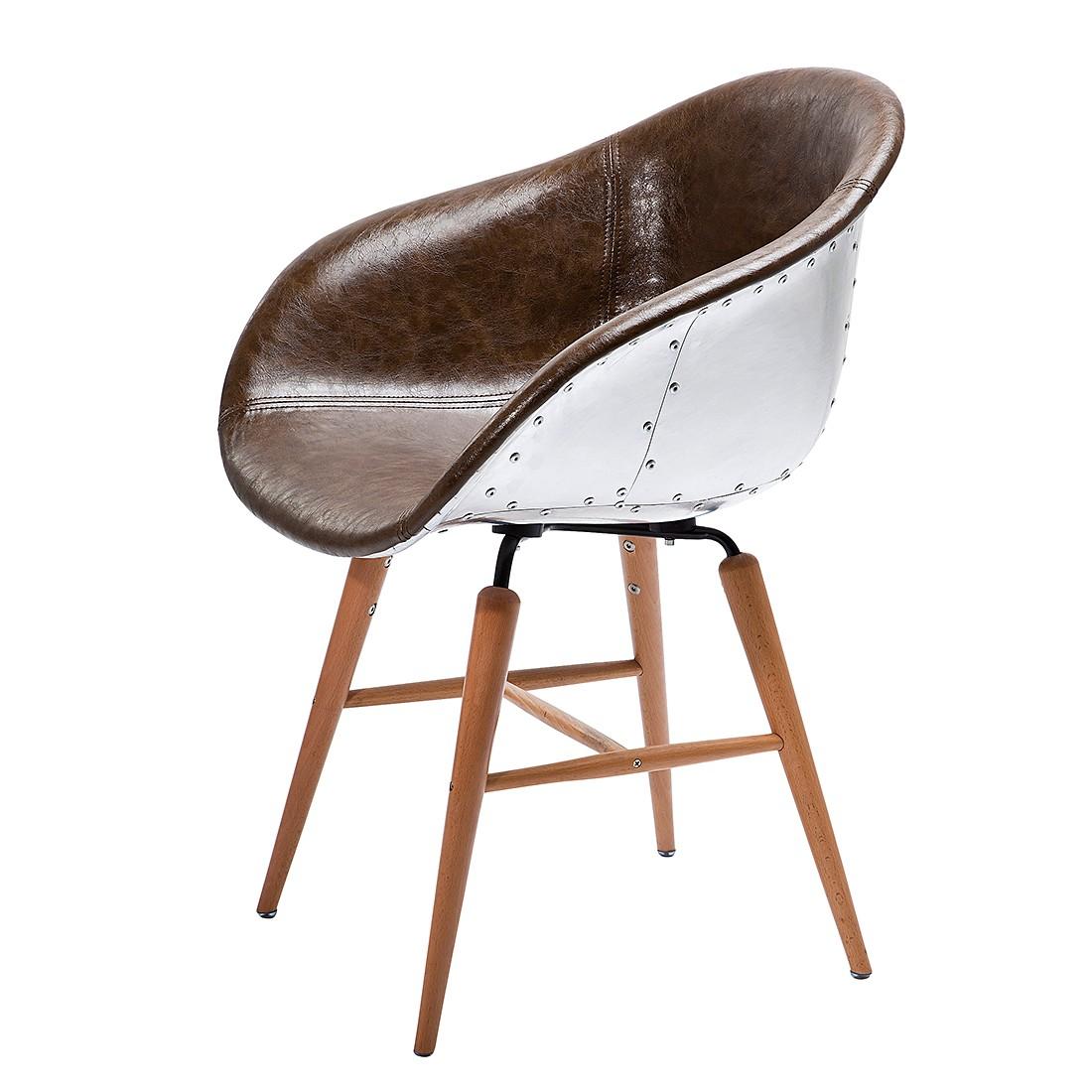 Kare design stuhl preisvergleich die besten angebote for Stuhl mit armlehne kunstleder
