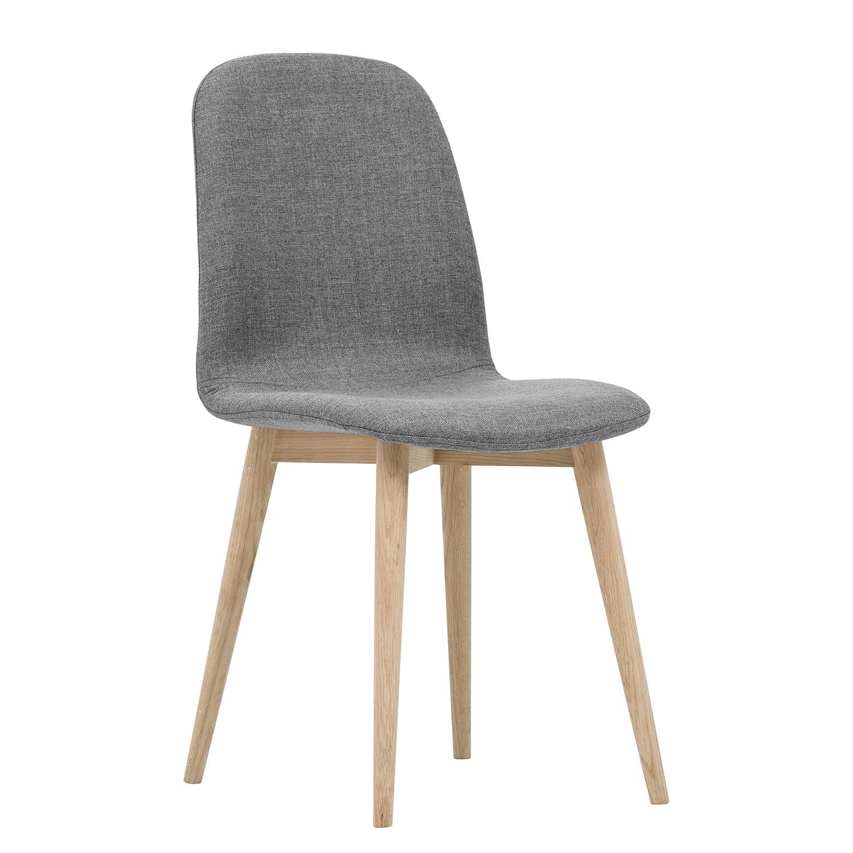 polsterstuhl helvig i 2er set webstoff eiche massiv. Black Bedroom Furniture Sets. Home Design Ideas
