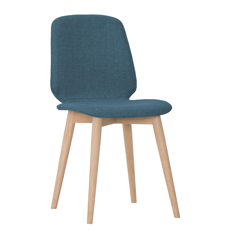 polsterstuhl helvig iii 2er set webstoff eiche massiv stoff vesta petrol g nstig kaufen. Black Bedroom Furniture Sets. Home Design Ideas