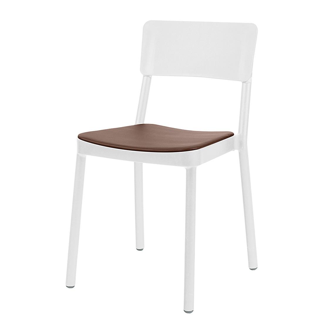 Stuhl wei kunstleder preisvergleich die besten angebote for Kunstleder stuhl braun