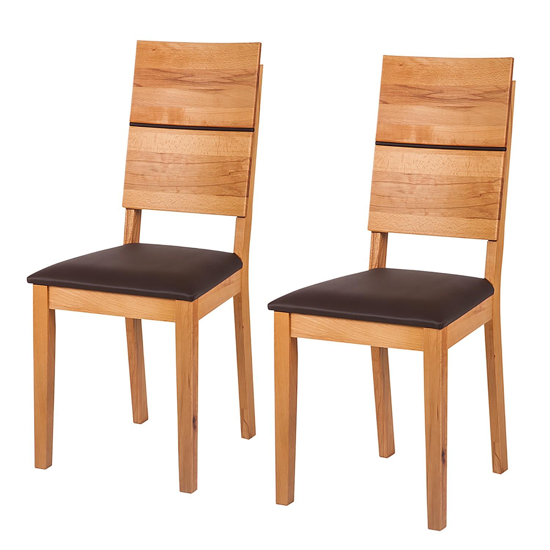 stuhl braun kunstleder preisvergleich die besten angebote online kaufen. Black Bedroom Furniture Sets. Home Design Ideas
