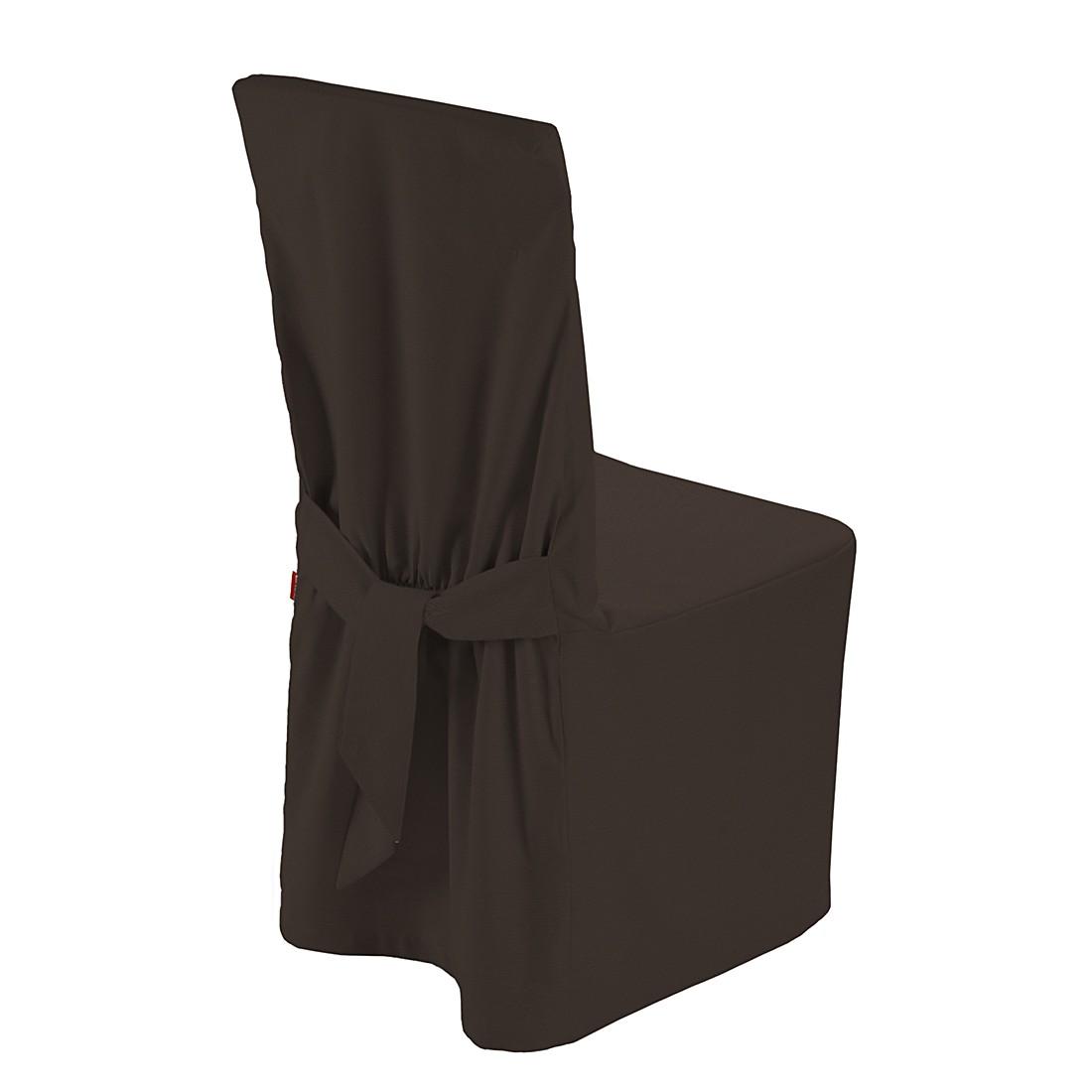 Home 24 - Housse de chaise cotton panama - marron foncé, dekoria
