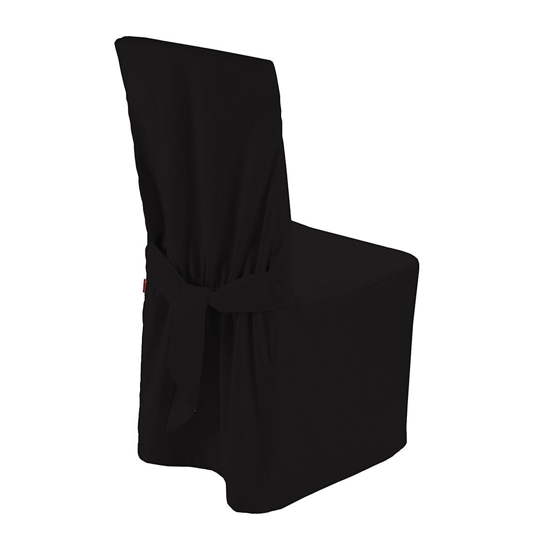 Home 24 - Housse de chaise cotton panama - noir, dekoria