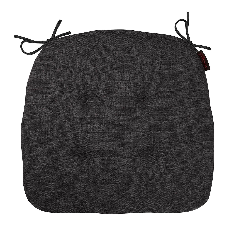 Home 24 - Coussin de chaise trinidad form 23 - tissu - anthracite, magma heimtex