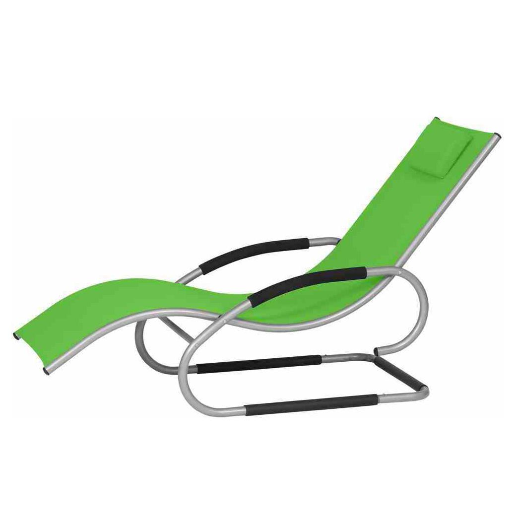Swingliege Adria - Aluminium / Ranotex - Silber / Limette, Siena Garden