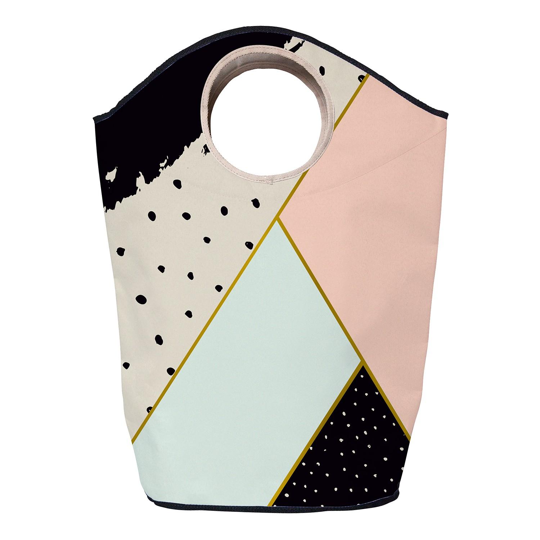 Wasmand geometric composition - geweven stof - meerdere kleuren, Butter Kings