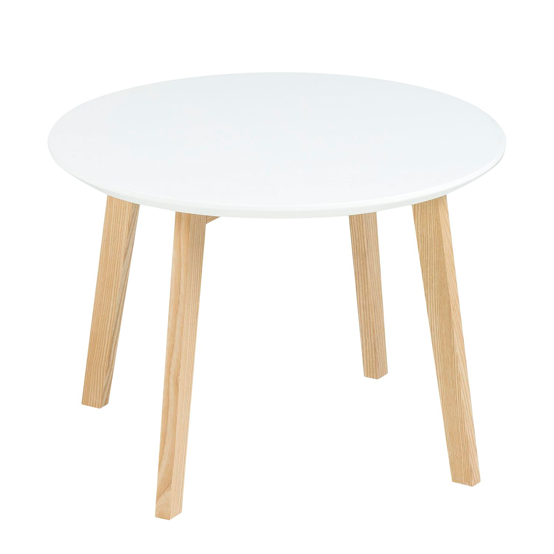 Tavolino parzialmente massello Bramming - Bianco, Morteens