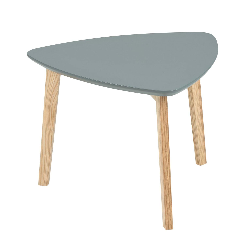 Tavolino parzialmente massello Mern - Grigio scuro, Morteens