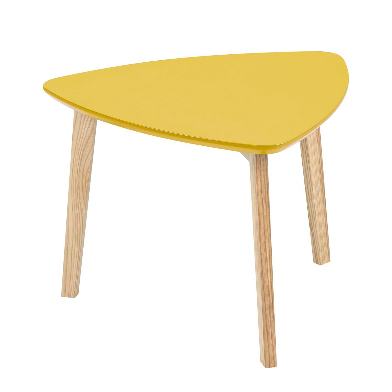 Tavolino parzialmente massello Mern - Giallo, Morteens