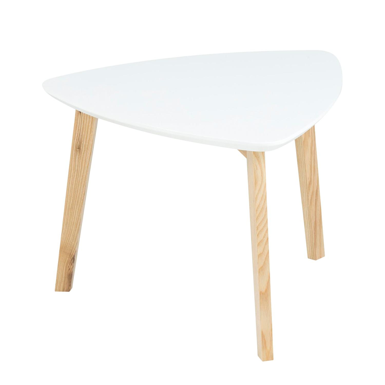 Tavolino parzialmente massello Mern - Bianco, Morteens