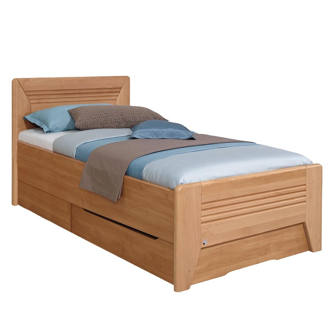 Deels massief bed Valerie III - elzenhout - 100 x 220cm - 1 bedlade, Rauch Steffen