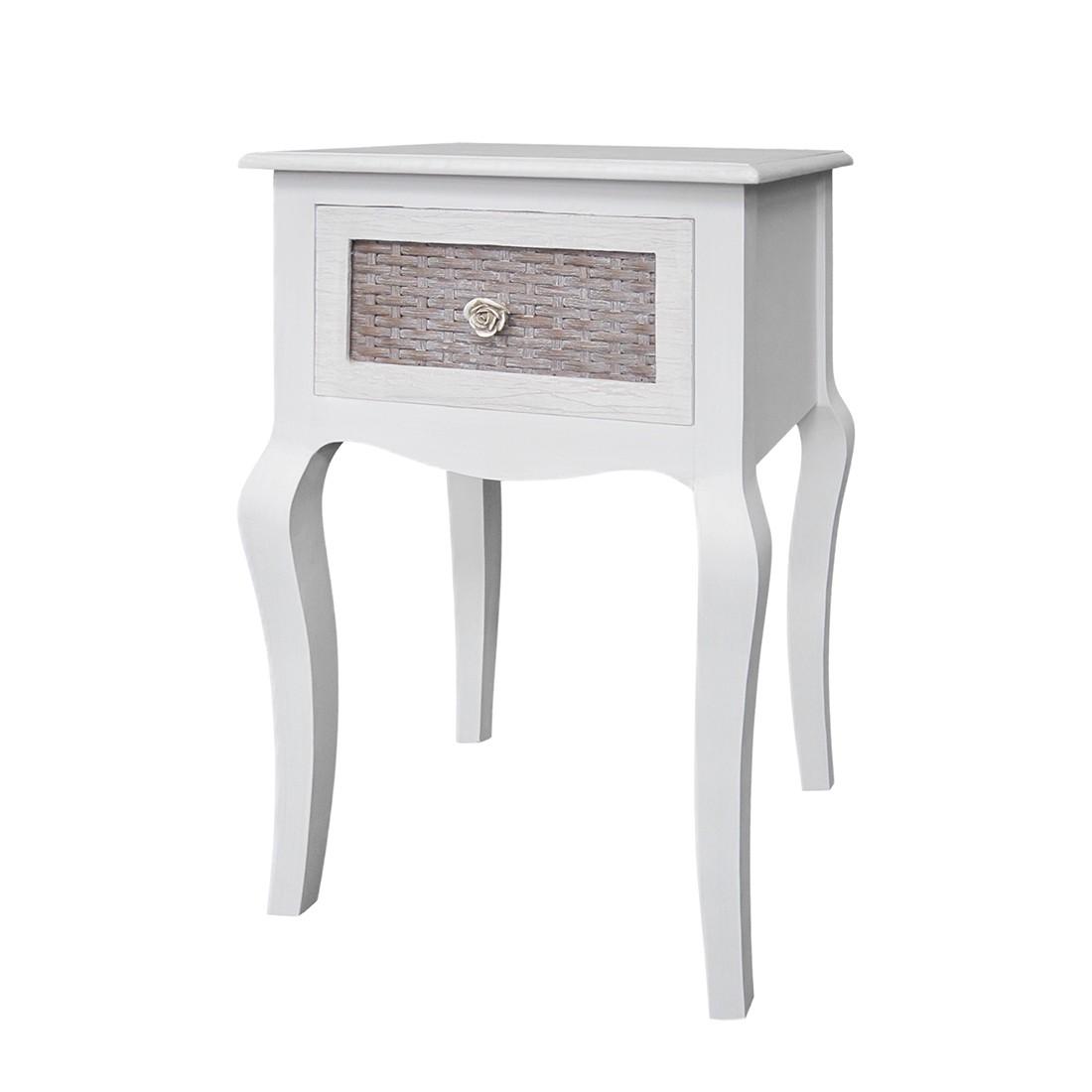 Tavolino da telefono Bellport - Bianco, Maison Belfort
