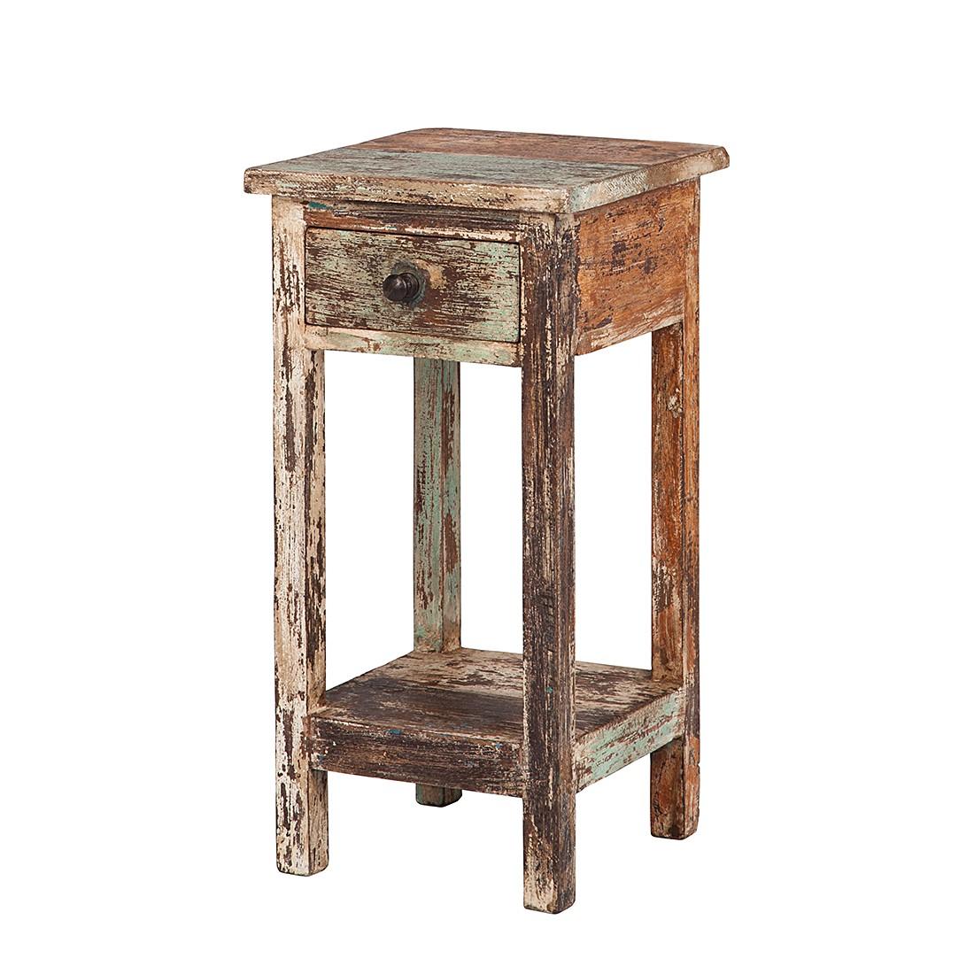 Tavolino per telefono India - Legno massello di mango Dipinto e verniciato - Altezza: 60 cm, Ars Natura