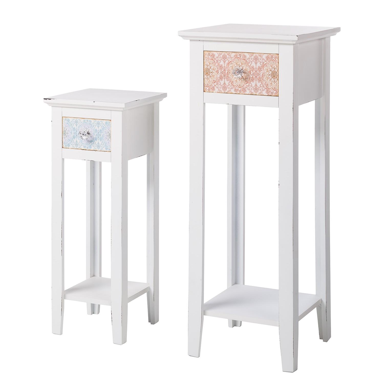 Set di tavolini da telefono Charminster (2 pezzi) - Parzialmente legno massello paulonia Legno parzialmente, Maison Belfort