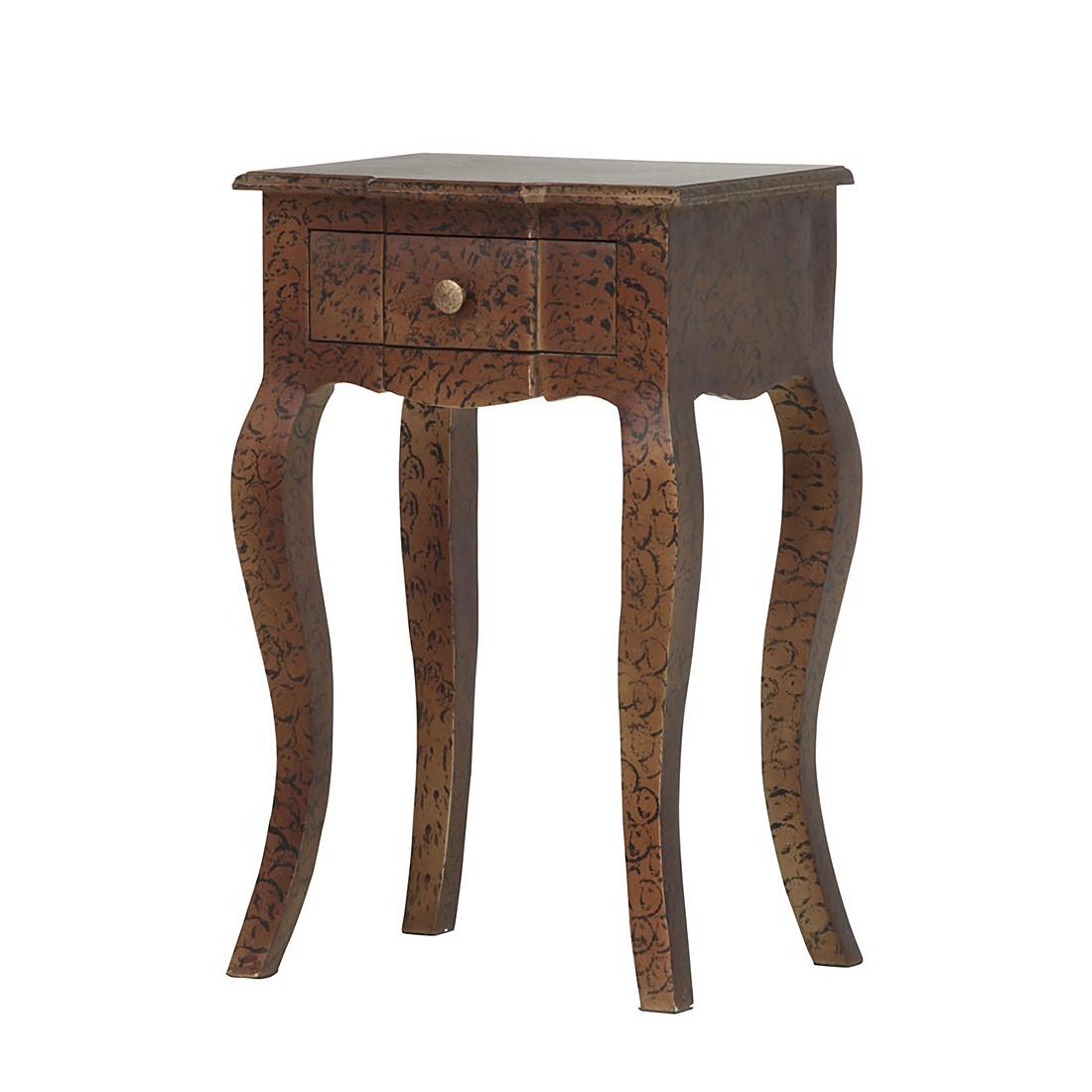 Tavolino vispa ii - legno massello di mango verniciato e laccato, ars manufacti