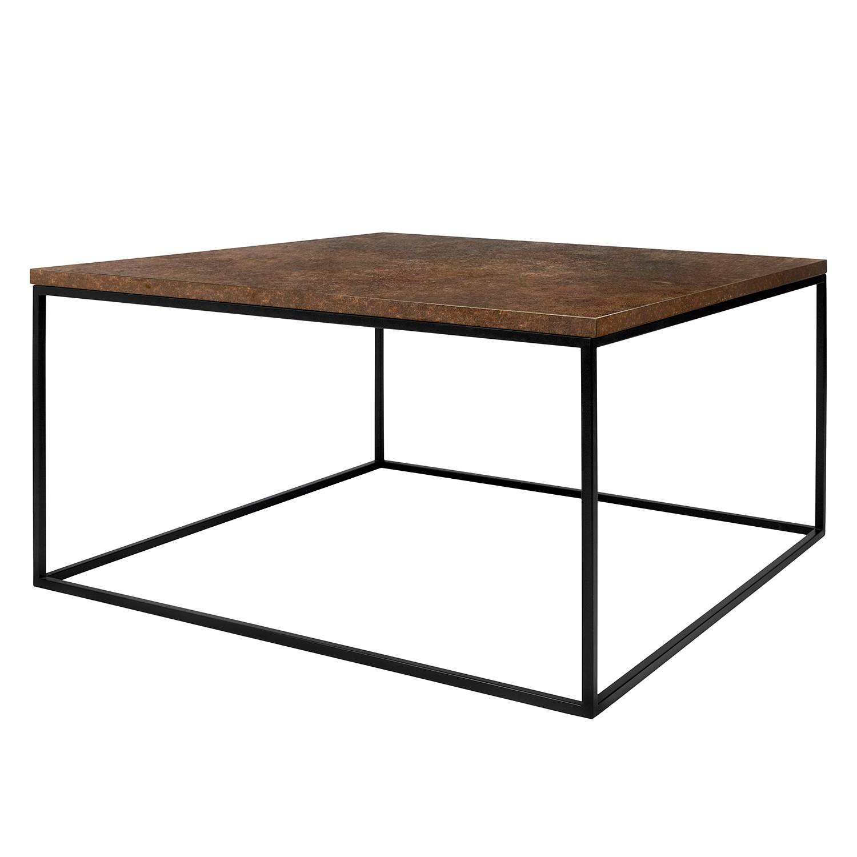 Table basse Levroux II - Marron / Noir - 75 x 75 cm, ars manufacti