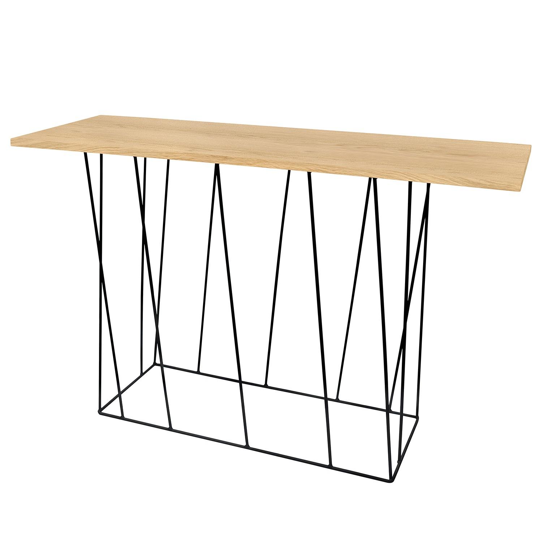 eiche holz konsolentisch beistelltisch 2 schubladen preise und angebote. Black Bedroom Furniture Sets. Home Design Ideas